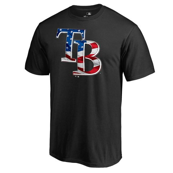 Tampa Bay Rays Big & Tall Banner Wave T-Shirt - Black - $34.99