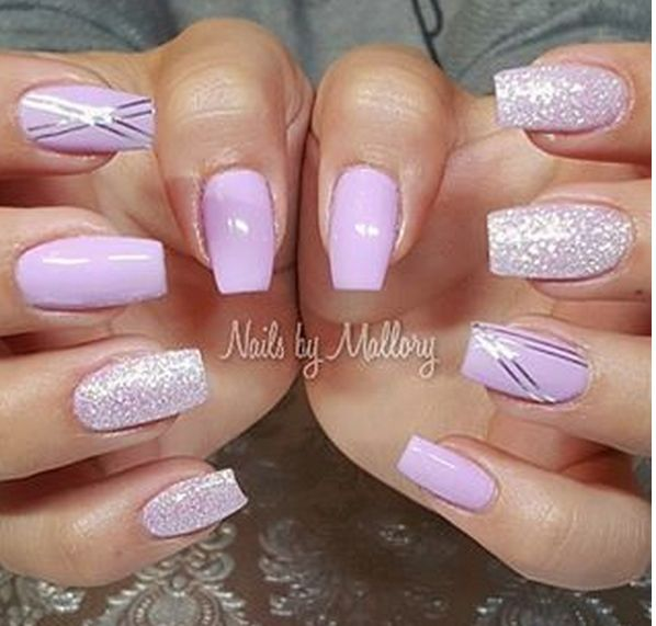 Lilac with Diamond Glitter Top - The 25+ Best Lilac Nails Ideas On Pinterest Summer Gel Nails