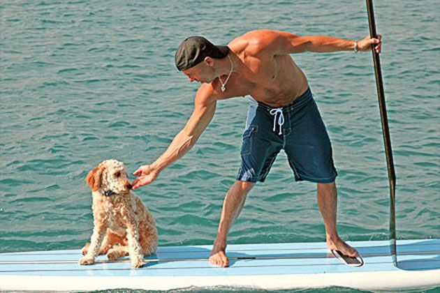 Kenny Chesney and his dog, Pancho.