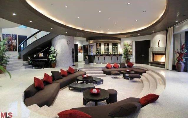 Wonderful Modern Mansion Living Room On Home Design With ...