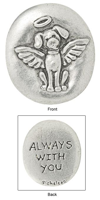 In remembrance-dog angel coin.