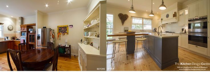 Before & After - Traditional Farmhouse Kitchen