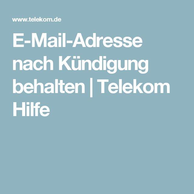 E-Mail-Adresse nach Kündigung behalten | Telekom Hilfe