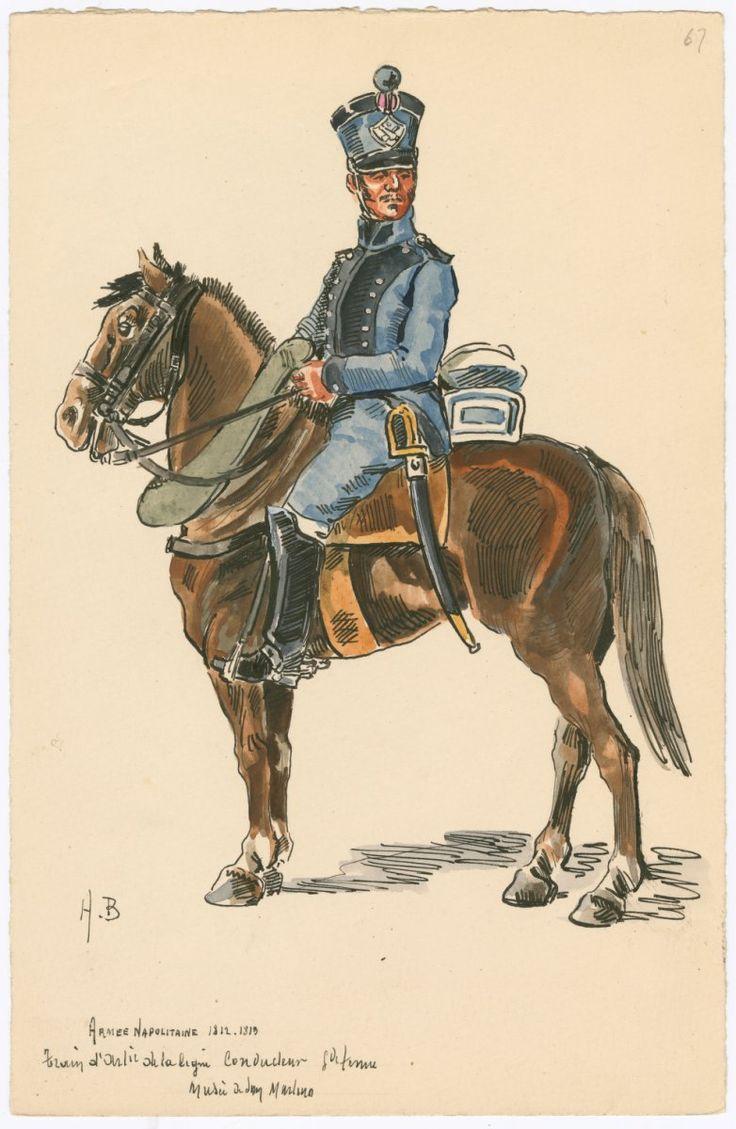 Kingdom of Naples; Artillery Train, Conductor, Grande Tenue, 1812-13 by H.Boisselier.