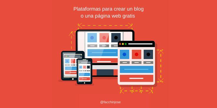 Aquí te mostrare 10 potentes herramientas online en español que te permitirán crear un blog gratis o una página web gratuita muy fácilmente.