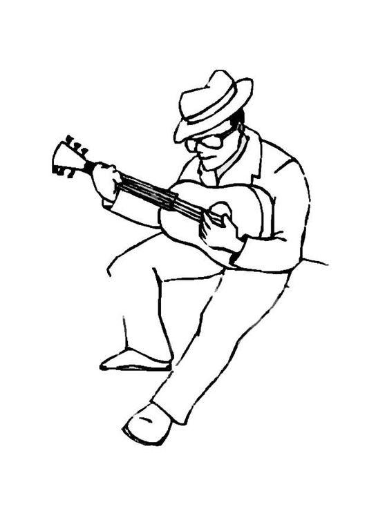 malvorlage gitarrenspieler  ausmalbild 8718