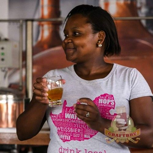 Meet our brewer of the month, Apiwe. She's one of South Africa's craft beer rock stars. #SouthAfrica #CraftBeer