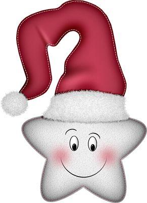 CHRISTMAS STAR SANTA CLIP ART