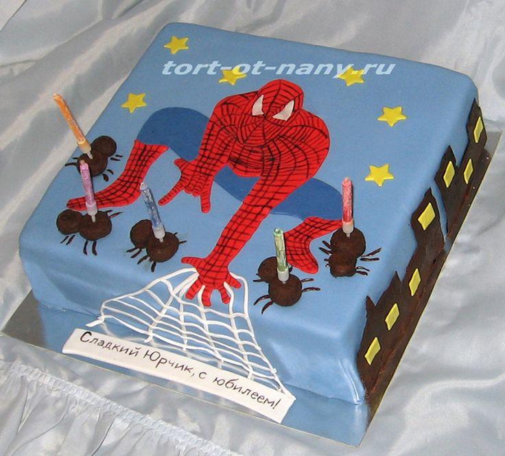 """Торт """"Человек - паук"""" - Spiderman cake"""