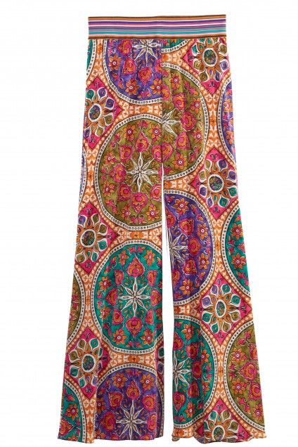 Matiki Printed Wide Leg Silk Pant | Calypso St. Barth