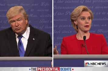 """The """"SNL"""" Premiere Pretty Much Summed Up The First Presidential Debate"""