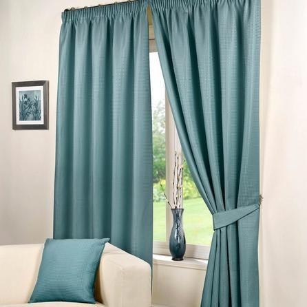 Hamilton McBride Blue Vibrant Wenden Sea Pencil Pleat Curtains