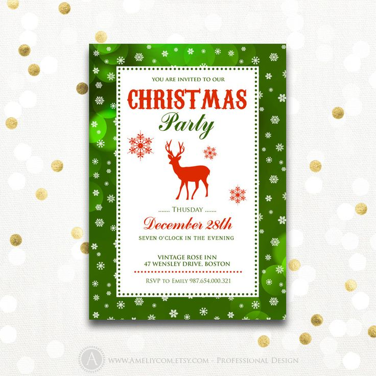 The 25+ best Christmas party invitation template ideas on Pinterest - christmas invitation template