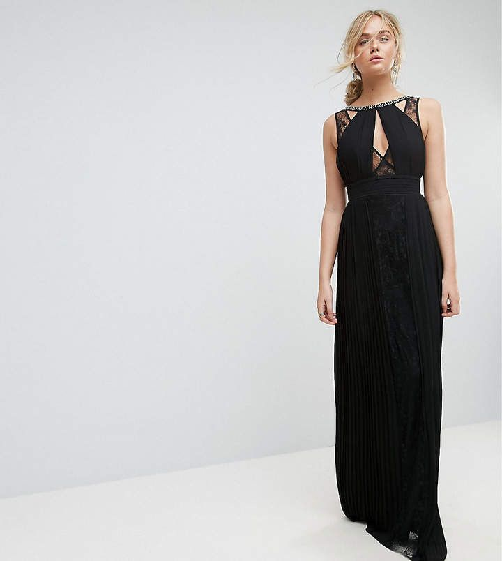 b84ba99d0c TFNC Tall High Neck Embellished Maxi Dress With Lace Insert