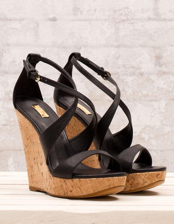 Black Heel Wedge Shoes Heels Zone