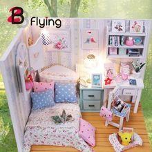 Handgemachte DIY Puppenhaus Holz Miniatur Möbel Kits Mit Klavier Kinder Spielzeug Sets(China (Mainland))