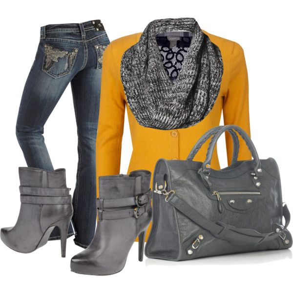 Mustard and Grey :)