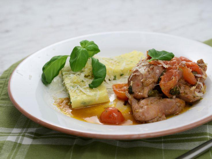 Italiensk kycklinggryta med parmesanpolenta   Recept från Köket.se