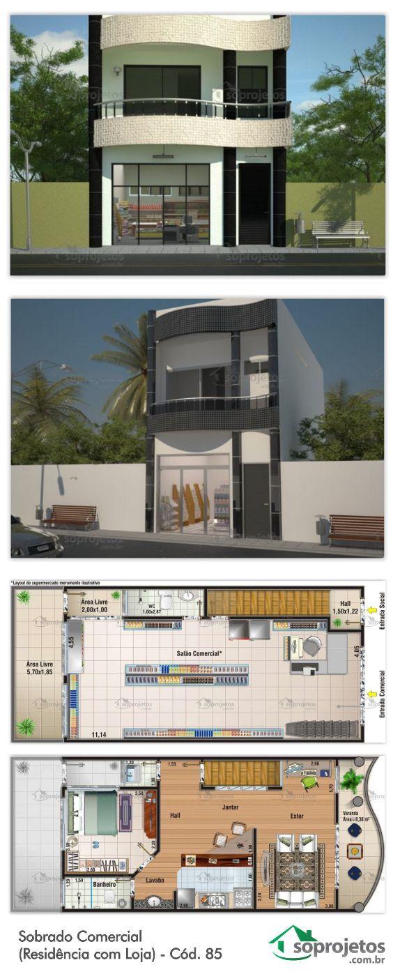 Segundo piso: 1 dormitorio/ 1 baño/ sala de estar/ cocina/ comedor/ terraza Primer piso uso comercial.