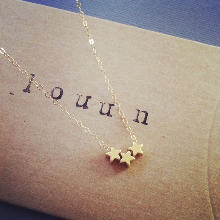 Gold Tiny Star Necklace,,,would love this in silver...maybe with a tiny crescent…