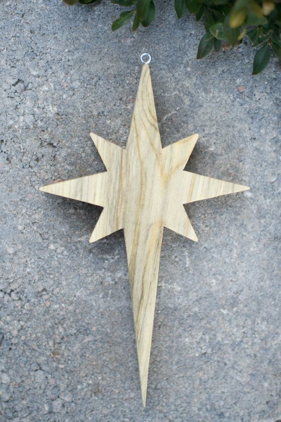 Loving this Bethlehem Star!! ♥ you Dad!! --Wooden Star Christmas Ornament by TwigsAndTreen on Etsy--