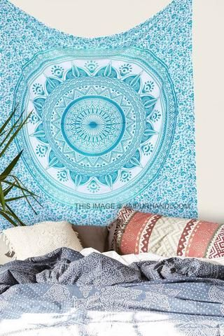 ombre mandala wall tapestry cheap wall tapestries large wall tapestry-Jaipur Handloom