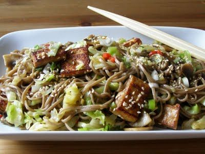 Maple Spice: Pointed Cabbage and Soba Noodle Stir Fry with Tofu (Use ...