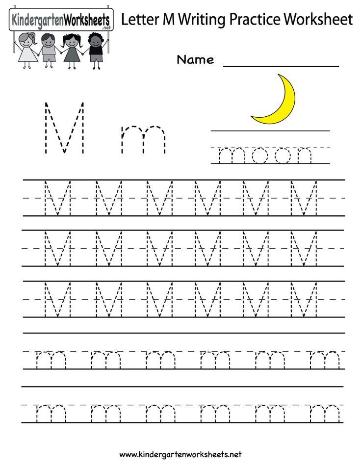 kindergarten letter m writing practice worksheet printable worksheets legacy pinterest. Black Bedroom Furniture Sets. Home Design Ideas