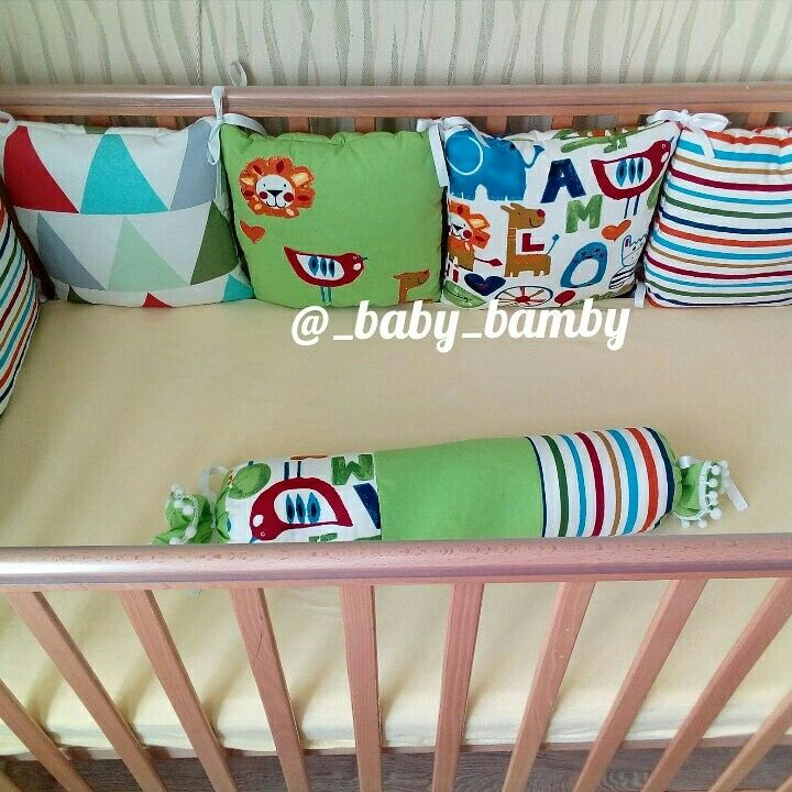 Бортики Bumpers for babycribs by Mudrenova Mariya Instagram @_baby_bamby