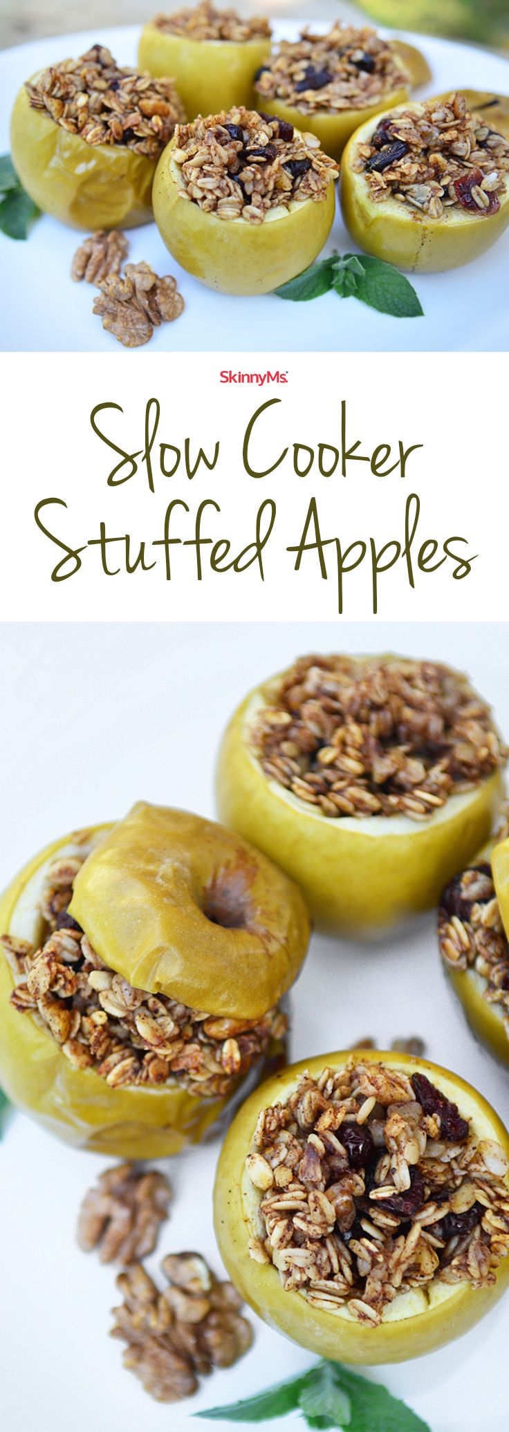 Our Slow Cooker Stuffed Apples are super simple to make, and you probably have most of the ingredients lying around the house!