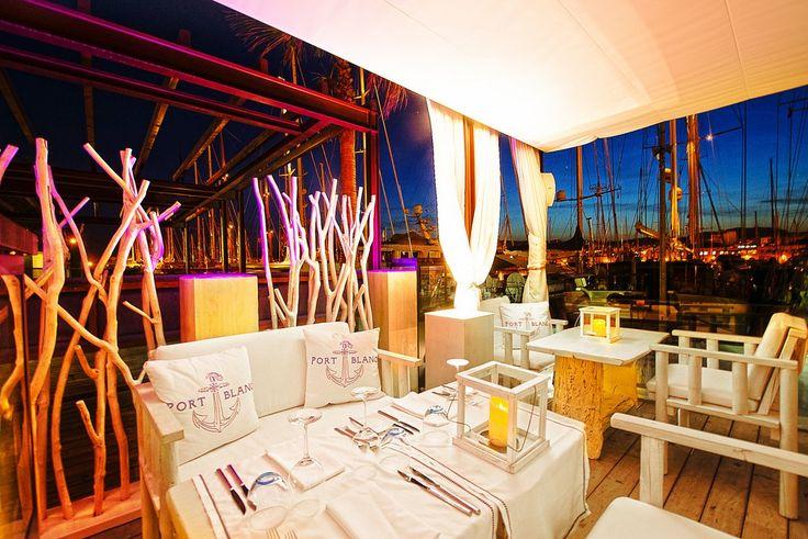 port blanc palma de mallorca fancy restaurant in puerto de palma nice view mallorca. Black Bedroom Furniture Sets. Home Design Ideas