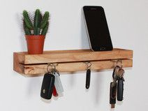 Schlüsselbrett,Schlüsselleiste aus Eschenholz