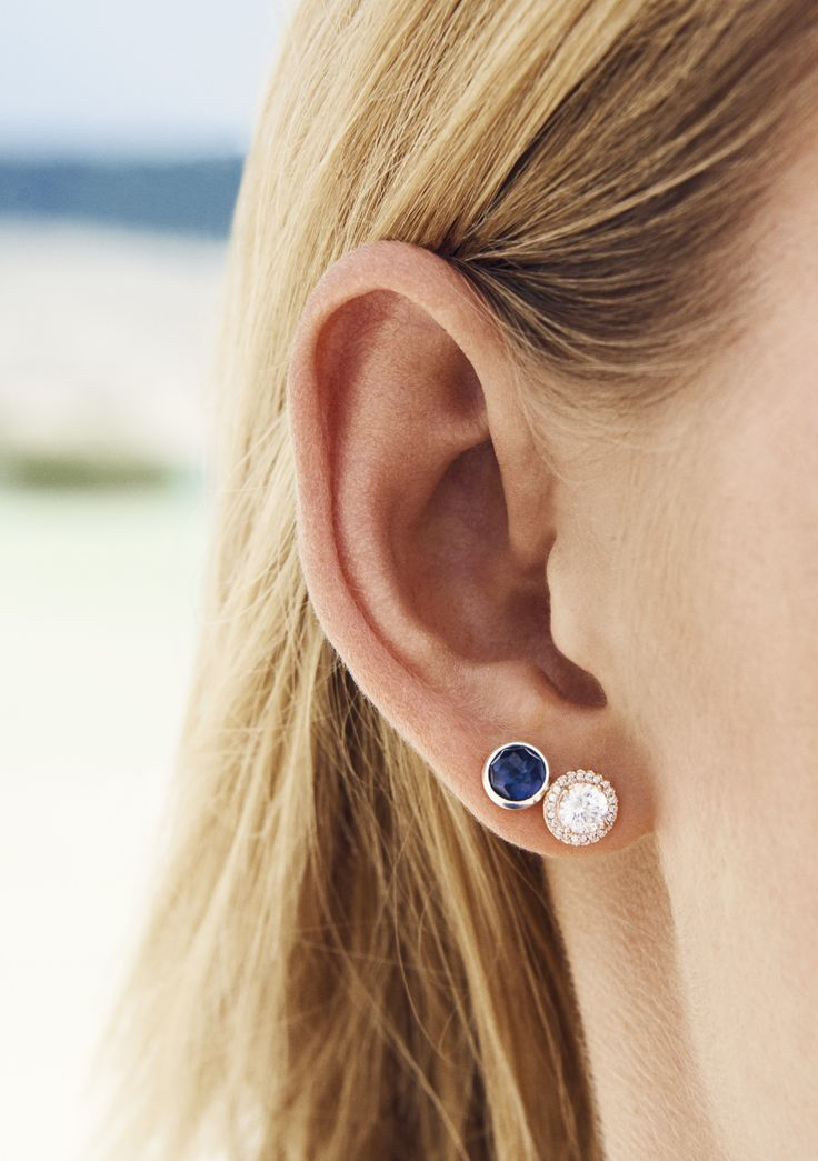 Make A Statement With Sparkling Stud Earrings The Synthetic Shire In September Birthstone Studs Is Perfect Complement To Pair Of Pandora Rose