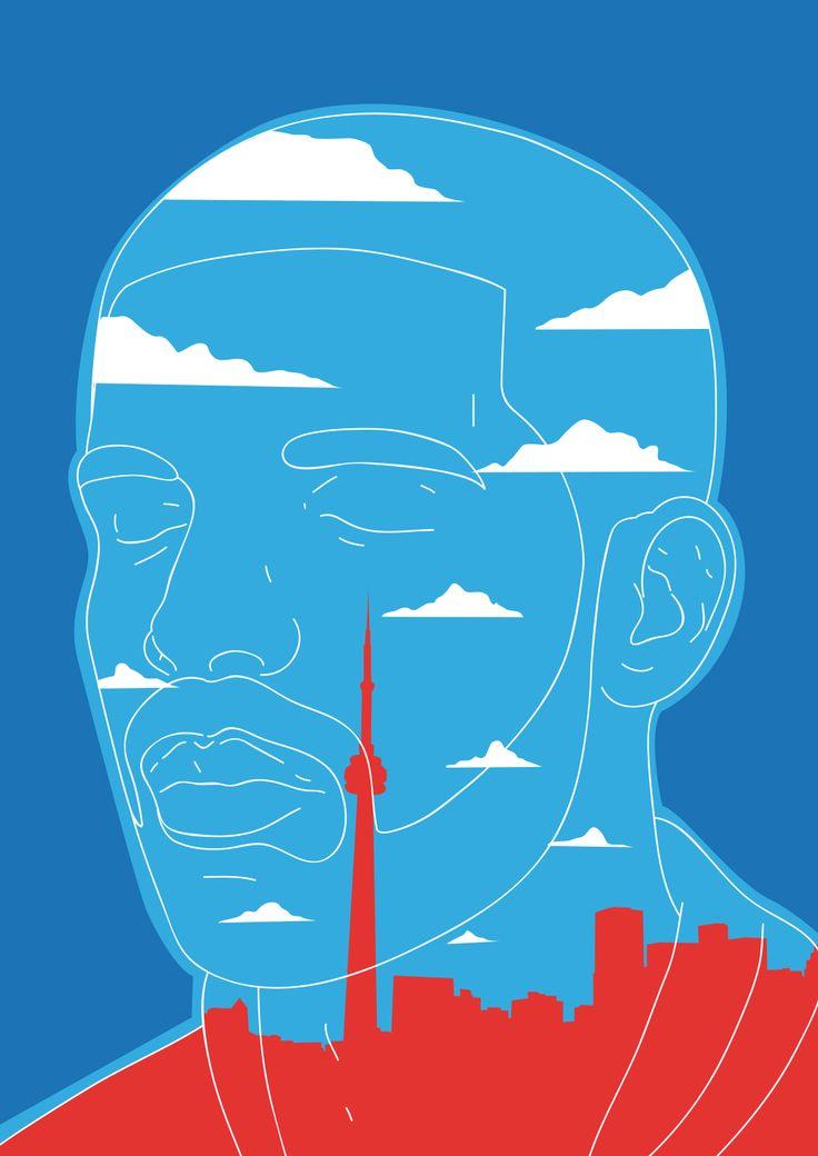 Know Yourself illustration - All content copyright 2016, Federico Gastaldi. All rights reserved. Drake, Toronto, music, portrait, know yourself, 6, rap, hip hop, federico gastaldi, SalzmanArt.com