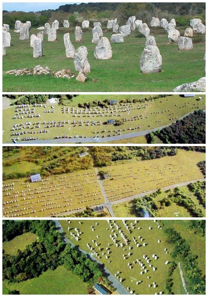 Stenen met magische kracht vlakbij Carnac (Bretagne) in Frankrijk.