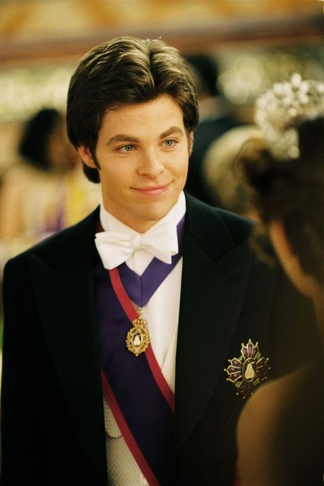 Chris Pine in The Princess Diaries 2: Royal Engagement. The cutest, most handsome king-to-be ever! <3