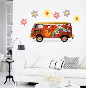 Combi Van MOVABLE Wall Stickers, $7.95 (http://www.wholesaleprinters.com.au/combi-van-wall-decal)