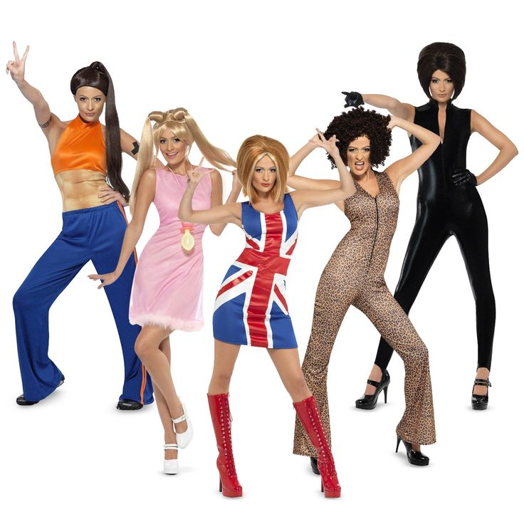 #Halloween http://www.planetgoldilocks.com/halloween/sales.html    The Spice Girls Group Costumes #GroupCostumes   #costumes