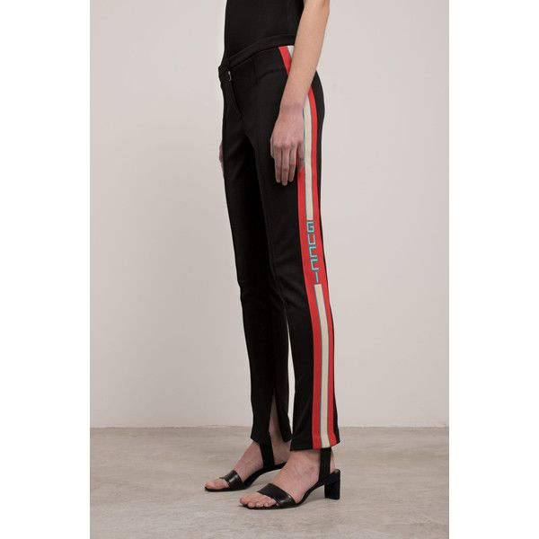 e6ce420d4b5 Gucci Gucci Stirrup Legging (985 SGD) ❤ liked on Polyvore featuring pants