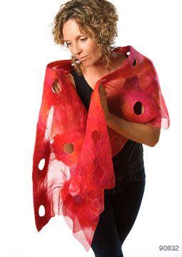 Ulrieke Benner -nuno felt shawl