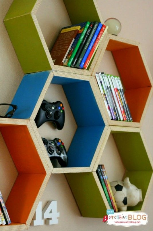 Teen Boy Bedroom Ideas and Storage - but can use for little ones too!