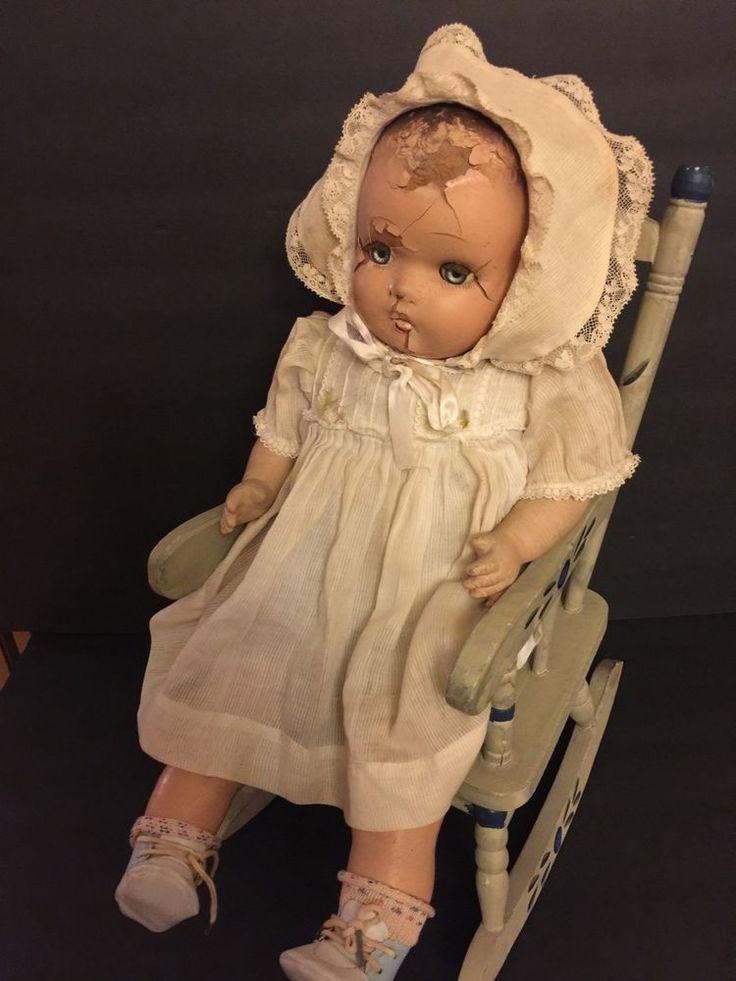 Vintage Composition Doll  Old Doll