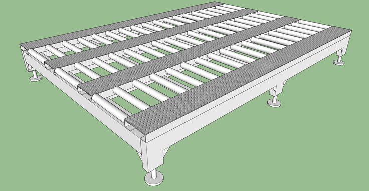 Roller deck redrawing using SketchUp #sketchup #design #3d #nknproduction #roller-deck #air-cargo