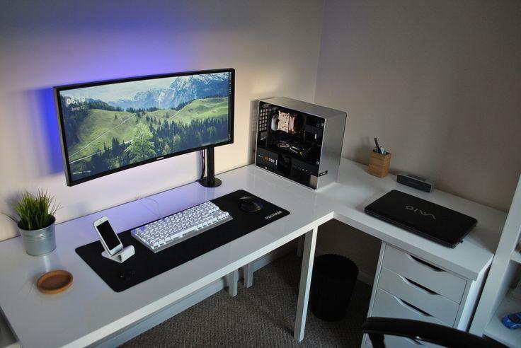 My minimalist ultrawide setup - Imgur