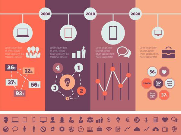 Technology Infographics Elements by Andrew Kravchuk, via Behance