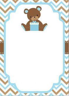 Invitacion Baby Shower niño  Baby shower boy invitation bear
