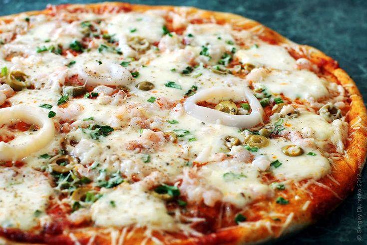 Пицца с кальмарами - вкусная начинка с морепродуктами