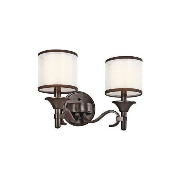 KICHLER KCH-45282-MIZ Lacey Transitional Wall Sconce ❤ liked on Polyvore featuring home, lighting, wall lights, kichler, kichler lamps, kichler light, transitional sconces and transitional lamps