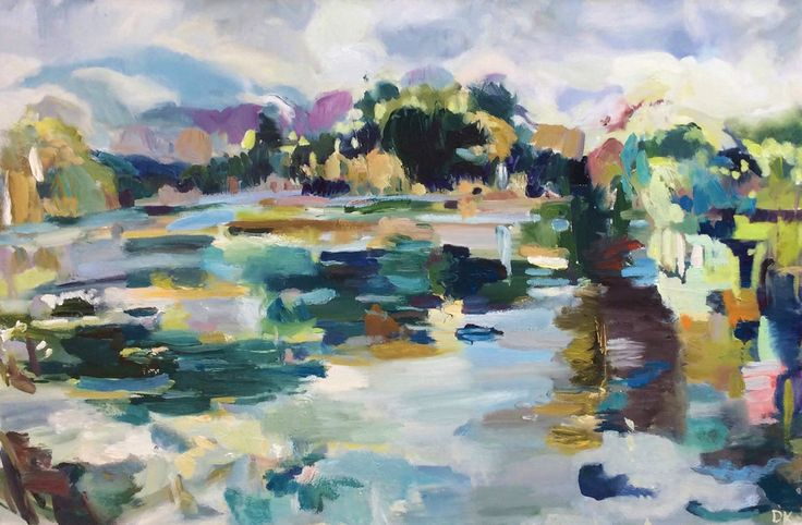 September Pond Oil on Canvas 60 x 91 cm £ 1,250  #Art #Paintings #Landscape