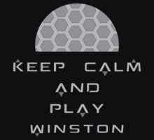 Overwatch - Keep Calm and Play Winston by Zurex